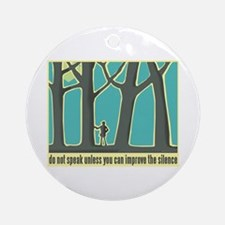 John Muir Quote Ornament (Round)