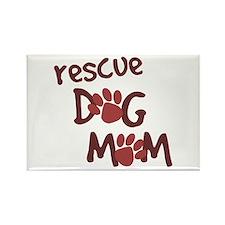 Rescue Dog Mom Rectangle Magnet