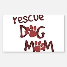 Rescue Dog Mom Rectangle Sticker 50 pk)