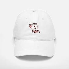 Rescue Cat Mom Baseball Baseball Cap