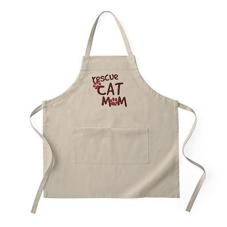 Rescue Cat Mom BBQ Apron