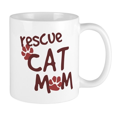 Rescue Cat Mom Mug