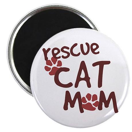 "Rescue Cat Mom 2.25"" Magnet (100 pack)"