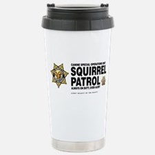 Squirrel Patrol Stainless Steel Travel Mug