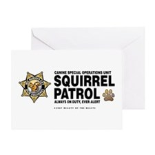 Squirrel Patrol Greeting Card