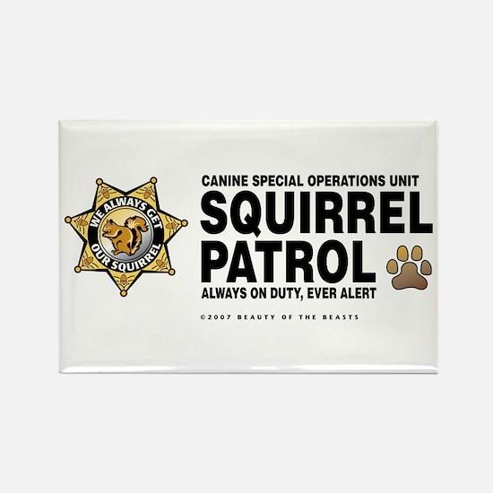 Squirrel Patrol Rectangle Magnet