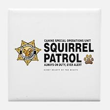 Squirrel Patrol Tile Coaster