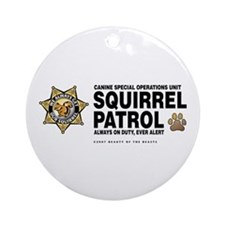 Squirrel Patrol Ornament (Round)
