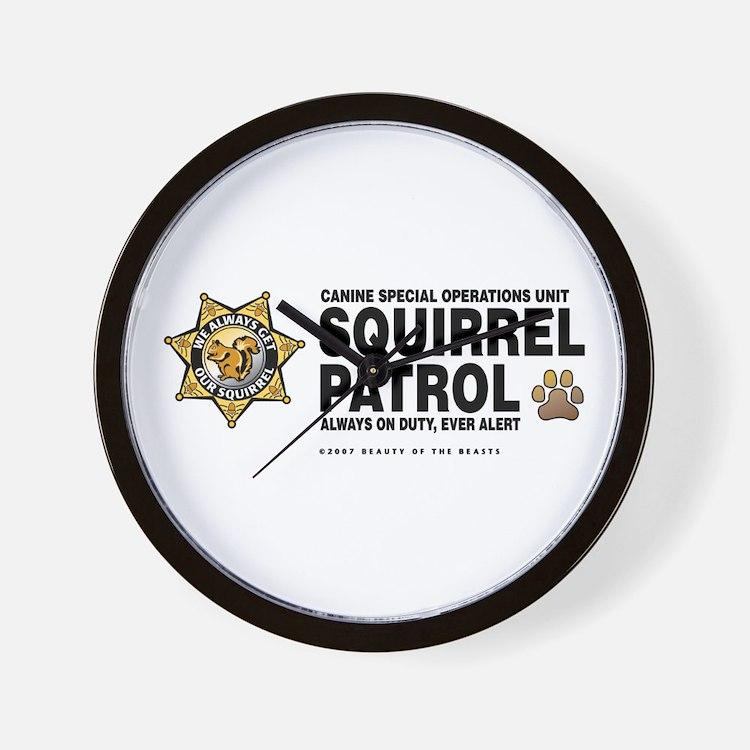Squirrel Patrol Wall Clock