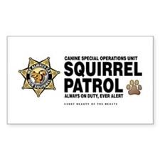 Squirrel Patrol Rectangle Decal