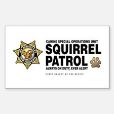 Squirrel Patrol Rectangle Decal