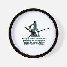 Man at the Wheel Wall Clock
