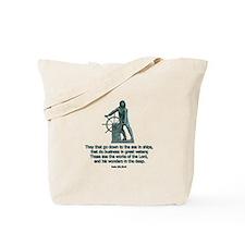 Man at the Wheel Tote Bag