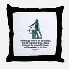 Man at the Wheel Throw Pillow