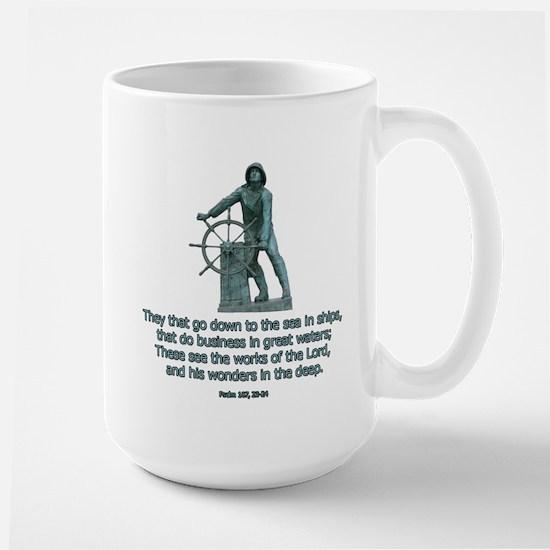Man at the Wheel Large Mug