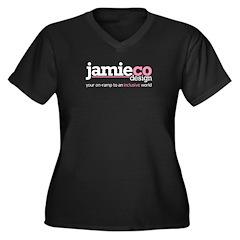 JamieCo Design Logo Women's Plus Size V-Neck Dark