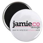 "JamieCo Design Logo 2.25"" Magnet (100 pack)"