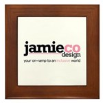 JamieCo Design Logo Framed Tile
