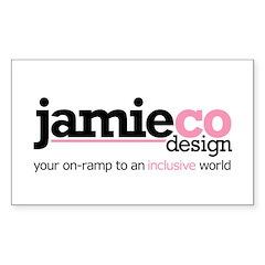 JamieCo Design Logo Rectangle Decal