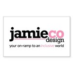 JamieCo Design Logo Rectangle Sticker 50 pk)