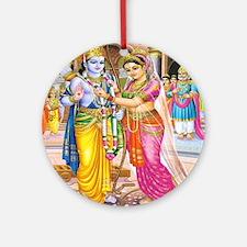 Wedding of Rama and Sita Ornament (Round)