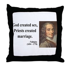 Voltaire 16 Throw Pillow