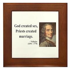 Voltaire 16 Framed Tile