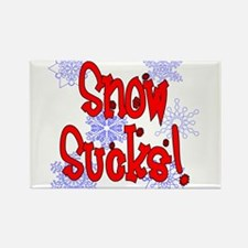 Snow Sucks! /red Rectangle Magnet