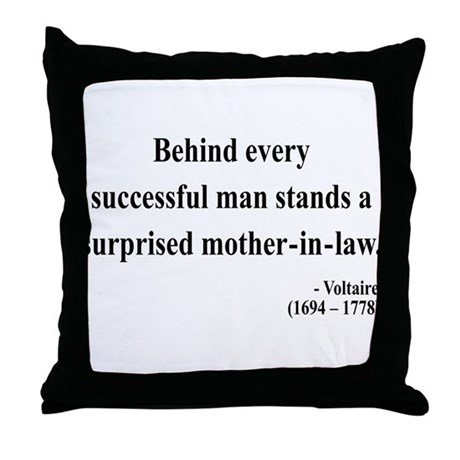 Voltaire 17 Throw Pillow