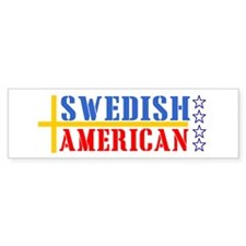 Swedish American Bumper Bumper Sticker