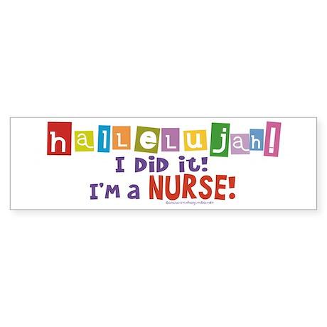 Hallelujah New Nurse! Sticker (Bumper)