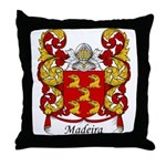 Madeira Family Crest Throw Pillow