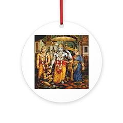 Rama, Sita, Lakshmana & Hanuman Ornament (Roun