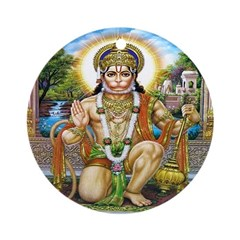 Hanuman Ornament (Round)