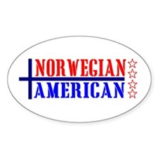 Norwegian American Oval Decal
