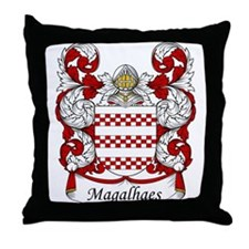 Magalhaes Family Crest Throw Pillow