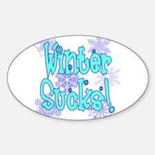 Winter Sucks! /blue Oval Decal