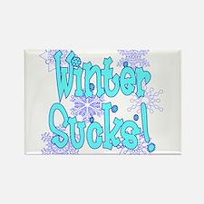 Winter Sucks! /blue Rectangle Magnet