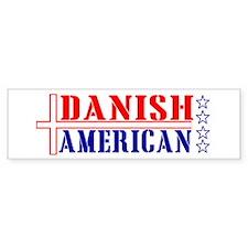 Danish American Bumper Bumper Sticker
