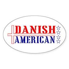 Danish American Oval Decal
