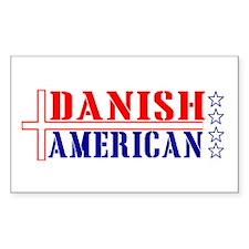 Danish American Rectangle Decal