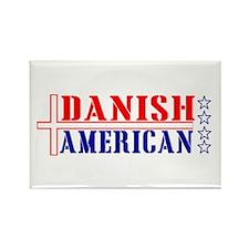 Danish American Rectangle Magnet