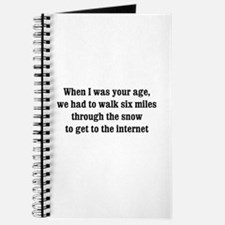 6 miles to the internet Journal