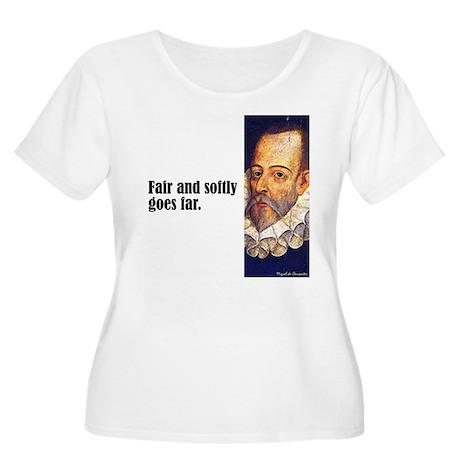 "Cervantes ""Fair & Softly"" Women's Plus Size Scoop"