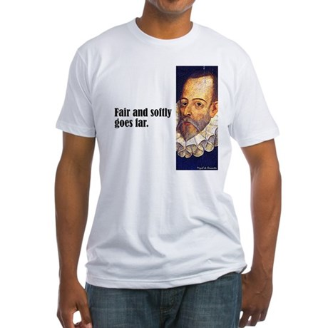 """Cervantes """"Fair & Softly"""" Fitted T-Shirt"""