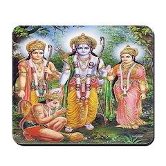 Rama, Sita, Lakshmana & Hanuman Mousepad