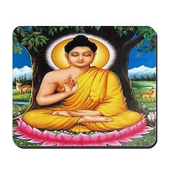 Buddha In Meditation Mousepad
