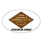 FJ&G Classic Oval Sticker