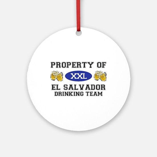 Property of El Salvador Drinking Team Ornament (Ro