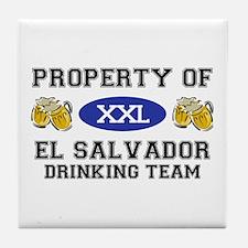 Property of El Salvador Drinking Team Tile Coaster